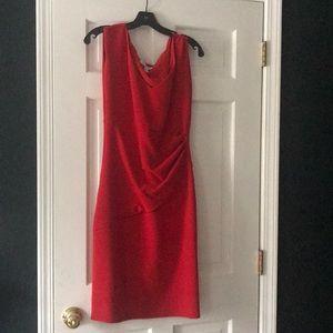Dresses & Skirts - Diane von Furstenberg red ruched dress 10